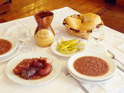 Olla podrida, plato típico de Covarrubias, Burgos, Castilla y León.