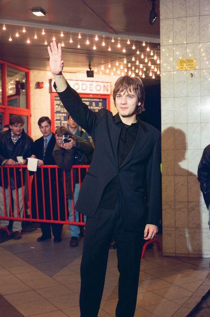 Ewan McGregor en el estreno en Edimburgo de 'Trainspotting' el 15 de febrero de 1996.