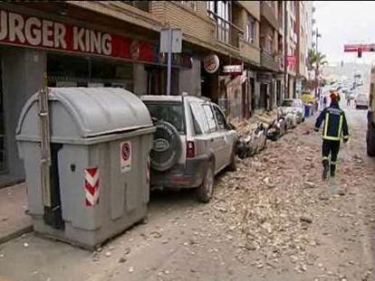 El caos se apodera de Lorca (Murcia)