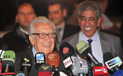 El enviado de la ONU, Lajdar Brahimi, en Damasco.