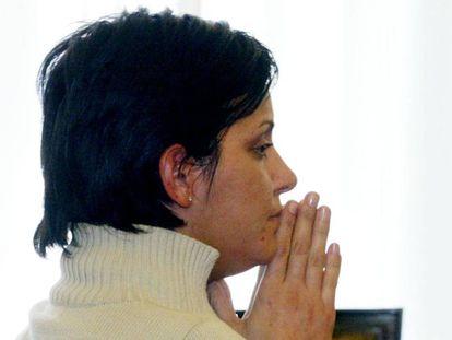 La ex concejal de Ponferrada Nevenka Fernández, durante su declaración en 2002 contra el entonces alcalde Ismael Álvarez (PP), sentenciado por acoso sexual.