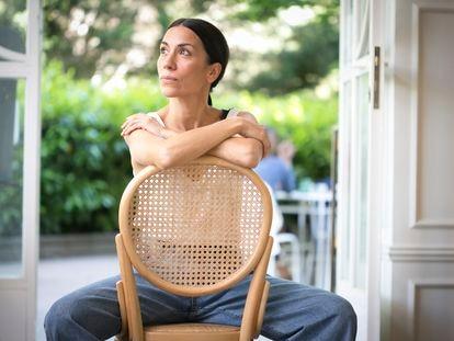 La actriz y escritora Itziar Miranda, a primeros de mayo de 2021 en Madrid.