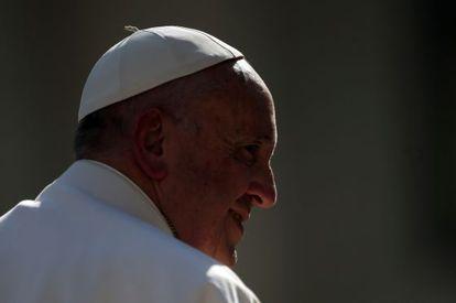 El papa Francisco, hoy en la audiencia semanal.