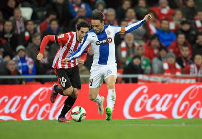 Sergio Garía, en el partido de Copa frente al Athletic.