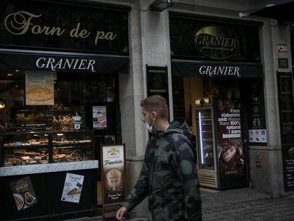 En la imagen una tienda de la cadena de panaderías Granier en la Calle Comte Urgell de Barcelona.