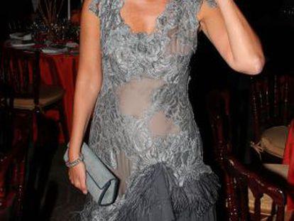 Liliana Godia, en la gala de la Hispanic Society of America, en Nueva York, en 2011.