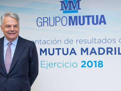 Ignacio Garralda, presidente y consejero delegado de la Mutua, en la presentación de resultados de 2018.