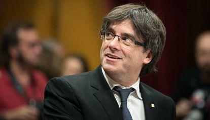 Carles Puigdemont, durante el debate de politica general