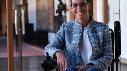 Teresa Perales, en el hotel La Reconquista de Oviedo, este miércoles después de la entrevista con EL PAÍS.