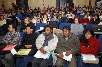 La delegación boliviana, ayer, en el II Foro de la Participación de Albacete.