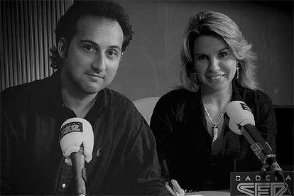 Iker Jiménez y Carmen Porter, en Cadena SER.