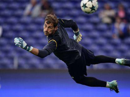 Casillas, antes de enfrentarse al Besiktas.