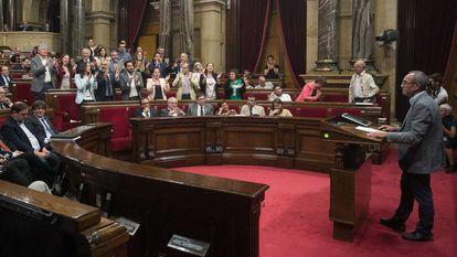 Imagen de archivo de un pleno del Parlament, la pasada legislatura