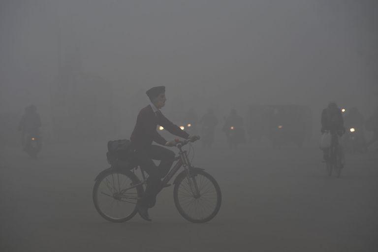 Episodio de contaminación en Lahore, Pakistán, la semana pasada.
