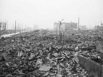 Hiroshima, un mes después de que Estados Unidos lanzara el 6 de agosto de 1945 la bomba atómica sobre la ciudad japonesa.