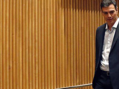 Pedro Sánchez en el Congreso de los Diputados. En vídeo, declaraciones de Carmen Calvo.