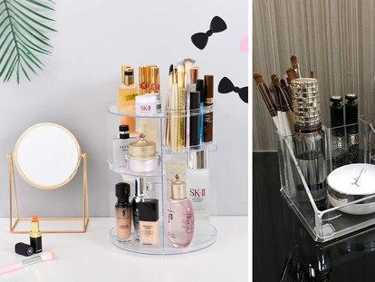 Estas cajas son ideales para tener todos tus cosméticos, maquillaje y joyas en orden.