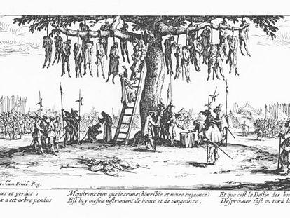 Grabado de 1633 de Jacques Callot sobre la Guerra de los 30 años.