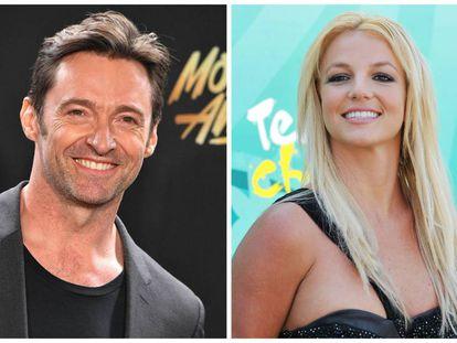 Hugh Jackman y Britney Spears, dos de los famosos que han padecido adicción al sexo.