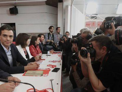 Pedro Sánchez, durante el Comité Federal del PSOE. En vídeo, declaraciones de Sánchez.
