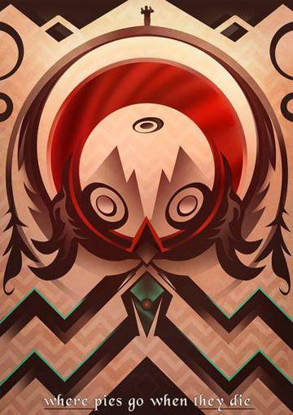 'Fan-art' de 'Twin Peaks'.