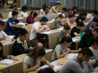 Examen la selectividad en la Universidad de Barcelona, el año pasado.