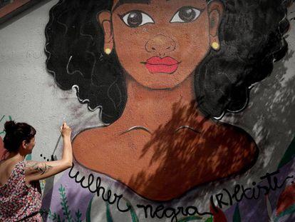 Mural em São Paulo.