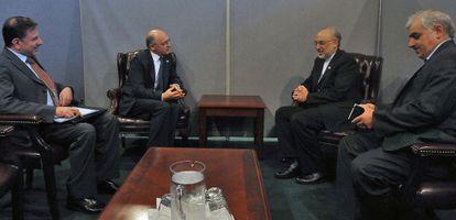 Los ministros de Exteriores de Argentina e Irán.