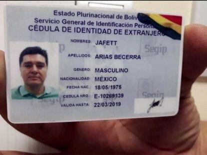 El carnet de identidad boliviano falso del 'número dos' del cartel de Jalisco, José González Valencia