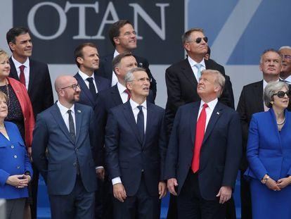Ceremonia de inauguración de la cumbre de la OTAN en 2018, en Bruselas.
