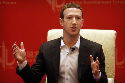 Mark Zuckerberg, en una conferencia en Pekín en marzo.
