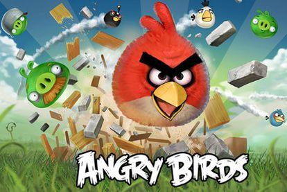 Los pájaros y cerdos protagonistas del juego <i>Angry Birds.</i>