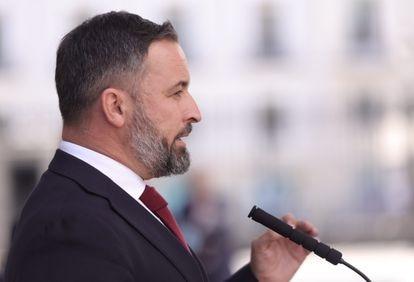 El presidente de Vox, Santiago Abascal, el pasado día 21 en el Congreso