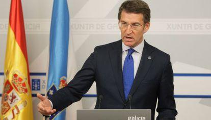 Alberto Núñez Feijóo, tras el Consello de la Xunta