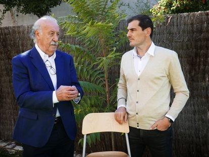 Vicente Del Bosque e Iker Casillas, en su encuentro el pasado jueves.