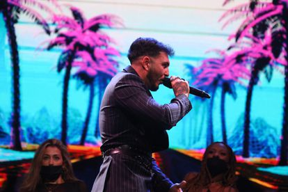 Omar Montes durante su actuación en Primavera Pop.
