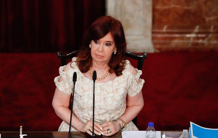 La vicepresidenta Cristina Fernández de Kirchner participa de la apertura de sesiones del Congreso, el 1 de marzo pasado.