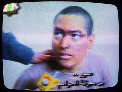 Un soldado de EE UU en la guerra de Irak.