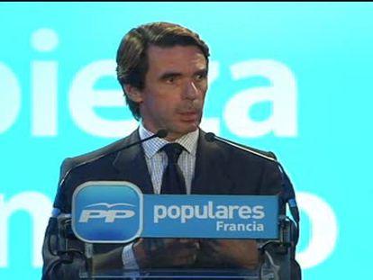 """Aznar: """"La herencia que vamos a recibir se resolverá con muchas decisiones"""""""