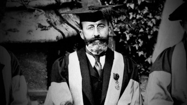 Ramón Menéndez Vidal durante un viaje a Oxford.