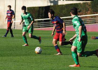 Lee. en un partido del Juvenil A en la temporada 2015-2016.