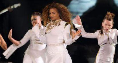 Janet Jackson, durante un concierto en septiembre.