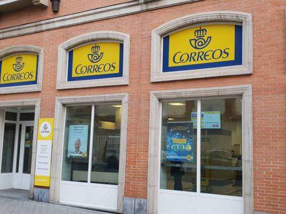 Una oficina de Correos, en Madrid.