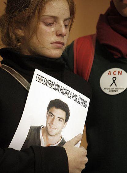 Una compañera de Álvaro, durante la reunión con Aguirre.