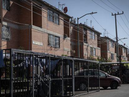 Vista de la unidad habitacional donde vive la familia de Marcia, en el municipio Los Reyes La Paz, en el Estado de México.