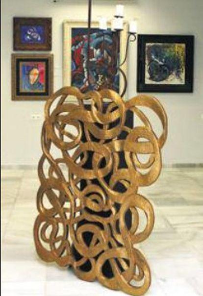 Algunas de las obras de Ángel Garó, en Estepona