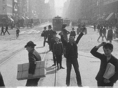 Fotograma de 'A Trip Down Market Street Before the Fire'.