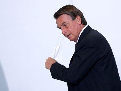 El presidente de Brasil, Jair Bolsonaro, este martes en Brasilia.