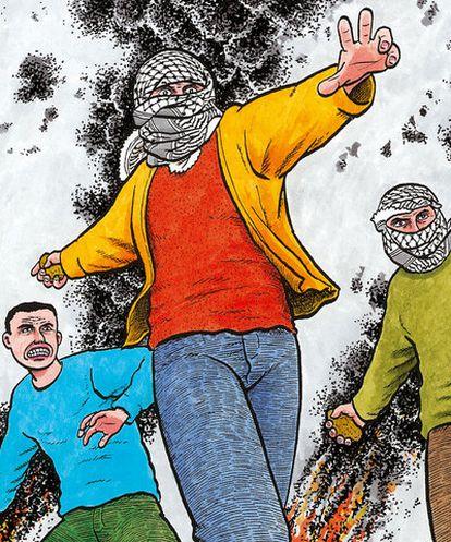 Imagen de <i>Palestina</i>, de Joe Sacco.