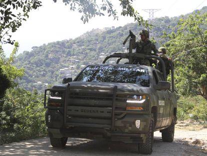 Militares en tareas de seguridad en Guerrero.